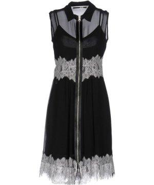 Mcq Alexander Mcqueen McQueen Black Silk And Lace Sleeveless Dress