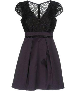Karen Millen Purple Satin And Lace Dress