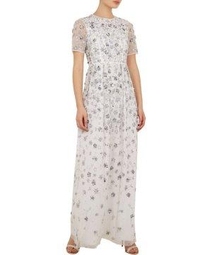 Ted Baker Morgona Allover Embellished Maxi Dress, White