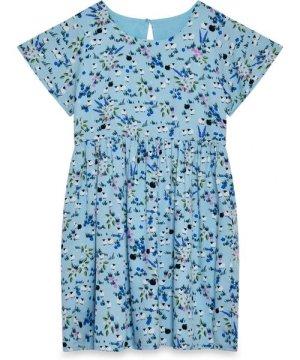 Yumi Pleated Waist Meadow Dress