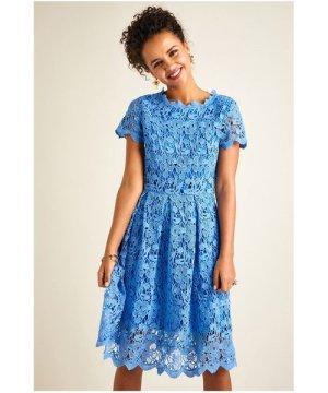 Yumi Blue Lace Prom Dress