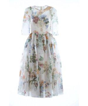 Dolce & Gabbana Women Silk Midi Dress