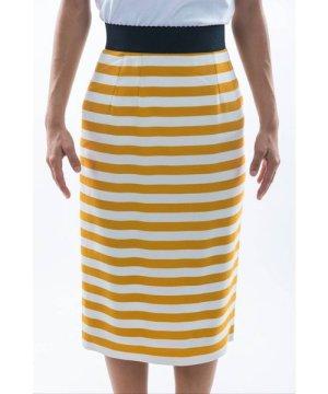 Dolce & Gabbana Women Stripes Print Midi Skirt