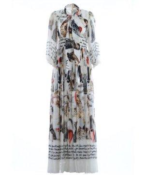Dolce & Gabbana Women Silk Long Dress
