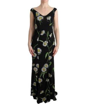 Dolce & Gabbana Sunflower Silk Stretch Sheath Dress