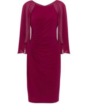 Gina Bacconi Jarielle Chiffon And Jersey Dress