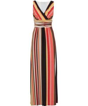 Gina Bacconi Ramella Striped Maxi Dress