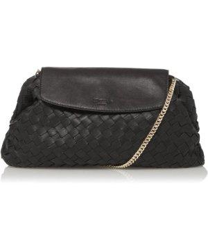 Dune London EMOREE Voluminous Woven Leather Clutch Bag
