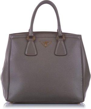 Prada Preowned Vintage Saffiano Parabole Handbag Gray