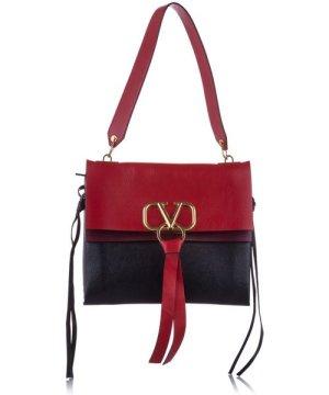 Valentino preowned Vintage VRing Leather Shoulder Bag Red