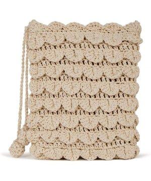 Yumi Hand Crochet Edged Passport Bag
