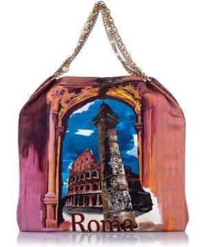 Dolce & Gabbana Vintage Dolce&Gabbana Anita Roma Printed Silk Tote Bag Multi