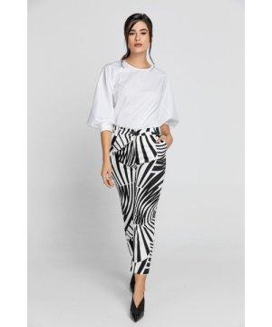 Conquista Black & White Gabardine Pants