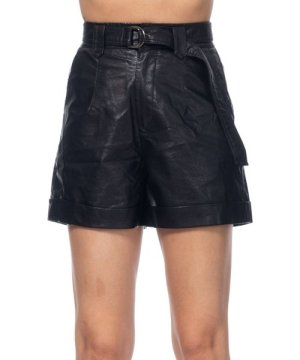 Tantra Short pu with belt and pockets