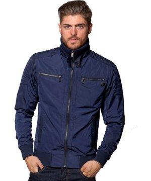 Enzo ETO | Men's Designer Navy Biker Style Jacket