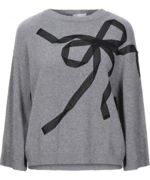 Redvalentino Grey Wool Bow Jumper