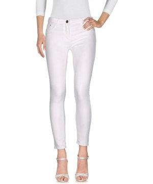 Elisabetta Franchi Jeans White Cotton Slim Fit