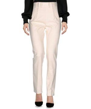 Philosophy Di Lorenzo Serafini Ivory Cotton Straight Leg Trousers