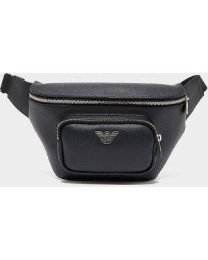 Men's Emporio Armani Metal Eagle Bum Bag Black, Black