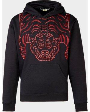 Men's IUTER Tibetan Embroidered Hoodie Black, Black