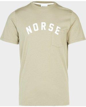 Men's Norse Projects Neils Curve Logo Short Sleeve T-Shirt Green, Green
