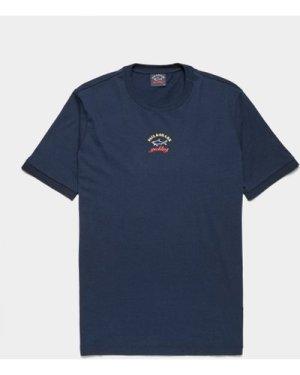 Men's Paul and Shark Central Logo Short Sleeve T-Shirt Blue, Navy