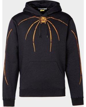 Men's IUTER Widow Embroidered Hoodie Black, Black