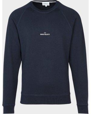 Men's Norse Projects Ketel Wave Sweatshirt Blue, Navy/Navy