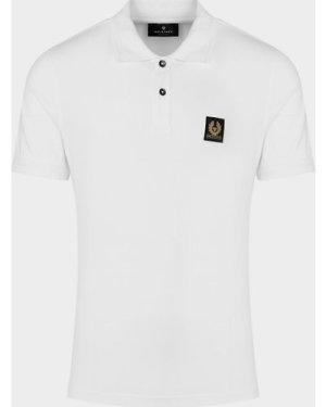 Men's Belstaff Patch Short Sleeve Polo Shirt White, White