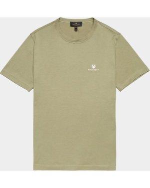 Men's Belstaff Embroidered Short Sleeve T-Shirt Green, Green