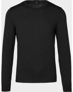 Men's BOSS Botto Knitted Sweater Black, Black/Black