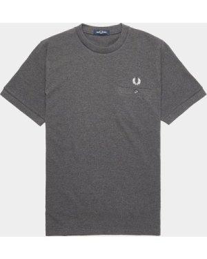 Men's Fred Perry Pocket Pique T-Shirt Grey, Grey/Grey