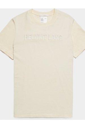 Men's Helmut Lang Embroidered Logo Short Sleeve T-Shirt White, Cream