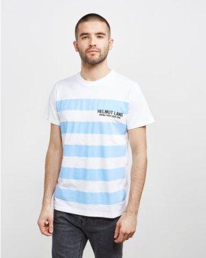 Men's Helmut Lang Bars Short Sleeve T-Shirt White, White