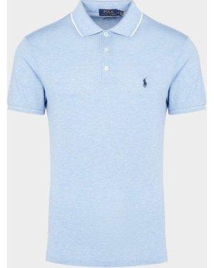 Men's Polo Ralph Lauren Tip Short Sleeve Mesh Polo Shirt Blue, Blue/Blue