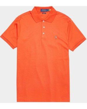 Men's Polo Ralph Lauren Pima Short Sleeve Polo Shirt Orange, Orange