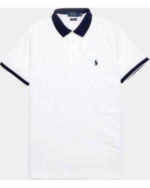 Men's Polo Ralph Lauren Tip Short Sleeve Mesh Polo Shirt White, White