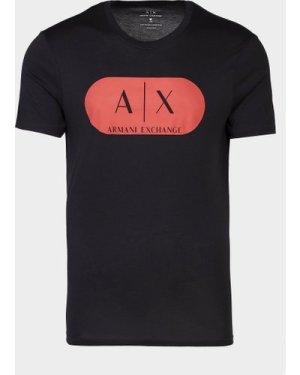 Men's Armani Exchange Pill Short Sleeve T-Shirt Multi, Black/Red