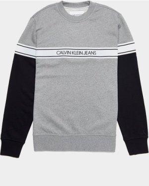 Men's Calvin Klein Jeans Logo Tape Sweatshirt Grey, Grey