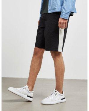 Men's AMI Paris Badge Shorts Blue, Navy