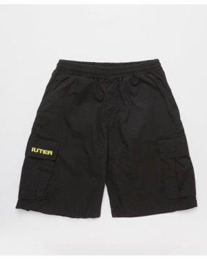 Men's IUTER Cargo Shorts Black, Black