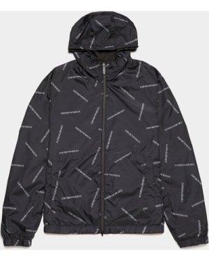 Men's Emporio Armani Reversible Logo Jacket Multi, Black/White