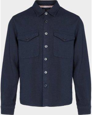 Men's Tommy Hilfiger Heavy Twill Overshirt Blue, Navy/Navy