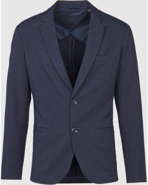 Men's Armani Exchange Core Textured Blazer Blue, Navy/Navy