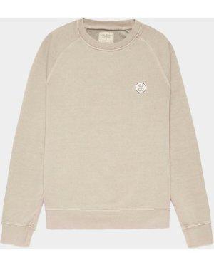Men's Nudie Jeans Co. Circle Patch Sweatshirt Brown, Beige