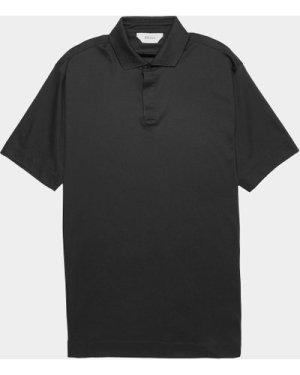Men's Z Zegna Mercerised Short Sleeve Polo Shirt Blue, Navy