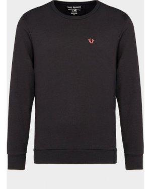 Men's True Religion Shoe Buddha Sweatshirt Black, Black/Black