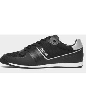 Men's BOSS Glaze Low Trainers Black, Black
