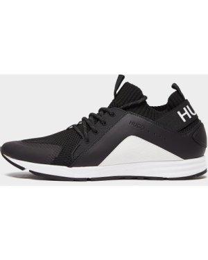 Men's HUGO Hybrid Run Trainers Multi, Black/White