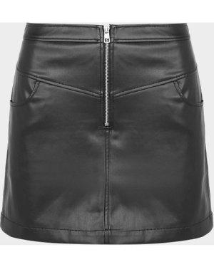Women's Calvin Klein Jeans Leather Mini Skirt Black, Black